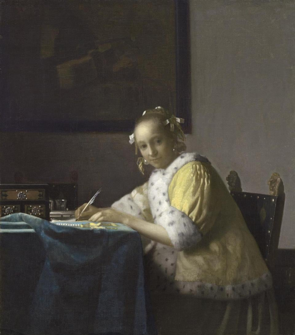 "Vermeer's ""A Lady Writing"""